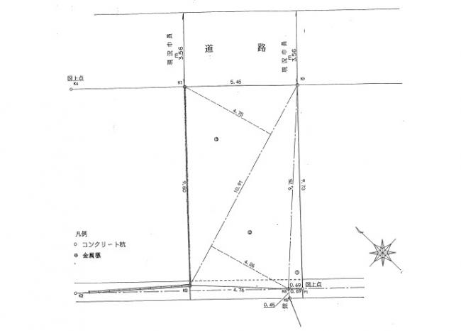 【間取り】<br />敷地形状図