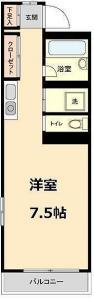 【間取り】<br />2面採光のお部屋です。