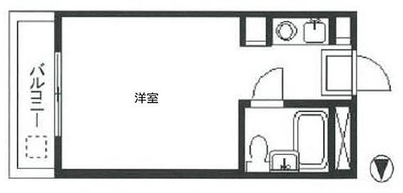 【間取り】<br />最上階のお部屋