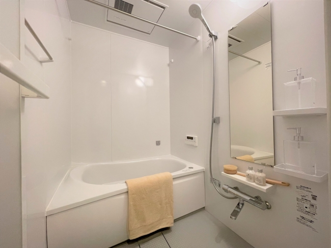 【バス】<br />梅雨時期に服が楽に乾く浴室乾燥機機能付き♪